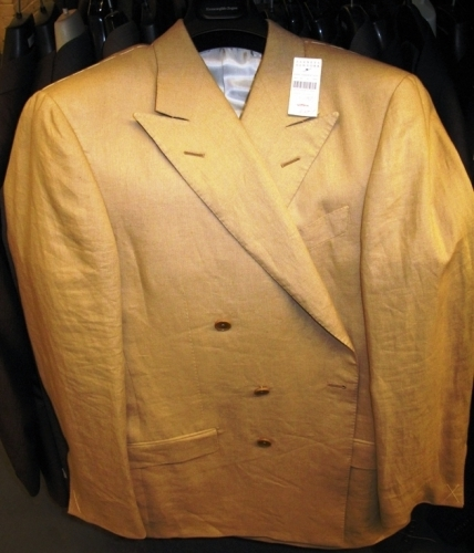 Ermenegildo Zegna double-breasted linen suits (Original markdown: $900)
