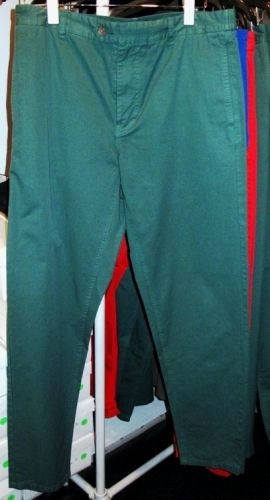 Wood Wood green cotton pants ($75)