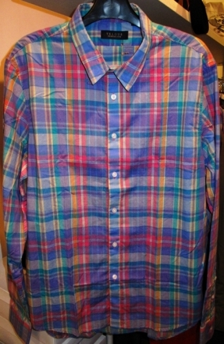 Velour plaid light-cotton shirts ($75)