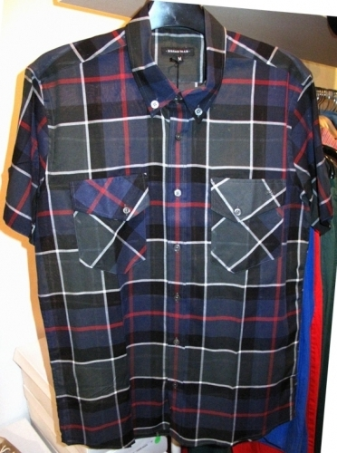 Surface to Air plaid light-cotton short-sleeve shirts ($75)