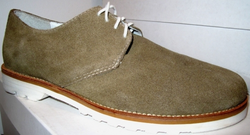United Bamboo black khaki saddle shoes ($125)