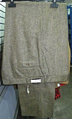 Wool pants for $75