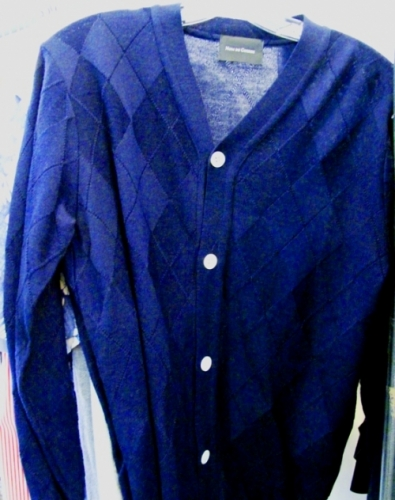 Nom De Guerre blue plaid cardigan ($80)