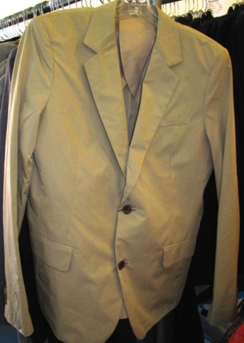 Nom De Guerre 2-button khaki jacket ($100)