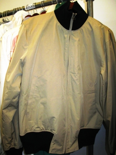 Nom De Guerre tan canvas bomber ($100)