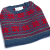 Blue/red baby alpaca pattern sweater - 5 units - $120 down from $330