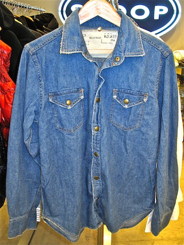 Billy Reid denim snap shirts - $45