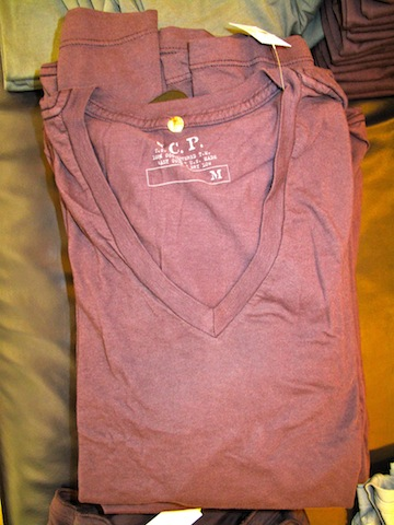 S.C.P. v-neck tees for $16.50