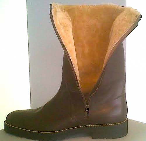 Viktor & Rolf shearling lined leather boots - $415
