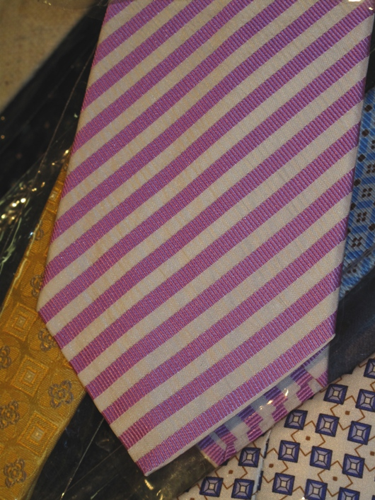 Isaia silk striped tie