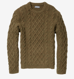Bonobos Green Cable Knit Sweater