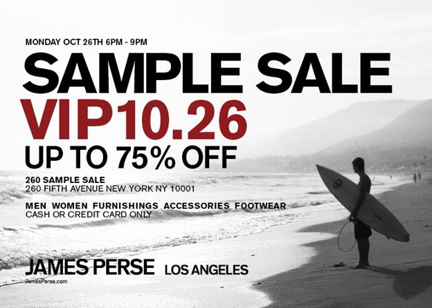 James Perse Sample Sale   The Choosy Beggar