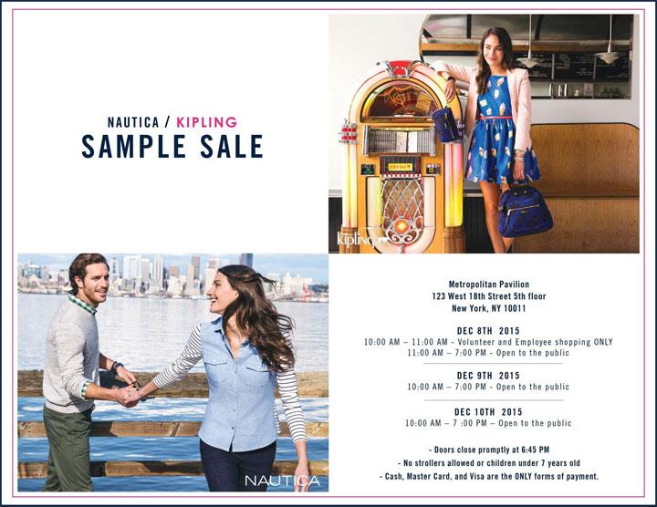 Nautica & Kipling Sample Sale | The Choosy Beggar