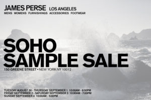 James Perse Sample Sale | The Choosy Beggar