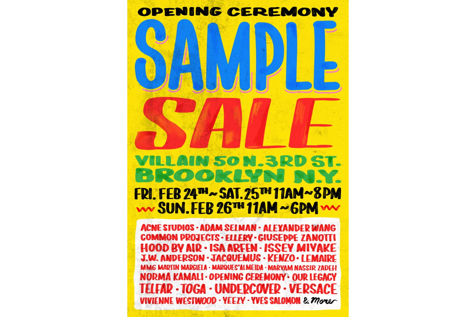 Opening Ceremony Sample Sale | The Choosy Beggar