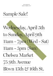 5690364d4e Saturdays NYC Warehouse Sale | The Choosy Beggar